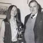Michael Sedgwick presenting Valerie Leach with an award