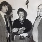 M Sedgwick presenting Mike Stubbington with an award