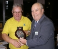 A shield being presented from Club president Bob Lintott