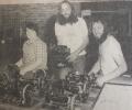 Jan & Dave Rudwick with Tim Rudwick (centre).