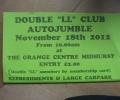Autojumble November 18th at The Grange, Midhurst