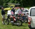 Motorbikes on display