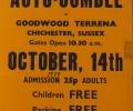 Double LL Club Autojumble poster,   GOODWOOD RACE TRACK 1979