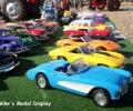 Display of hand built model vehicles